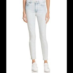 7 For All Mankind Bleached Out Ankle Skinny Jeans